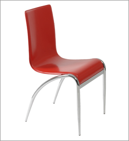 Perfect Grace Side Chair Red/Chrome