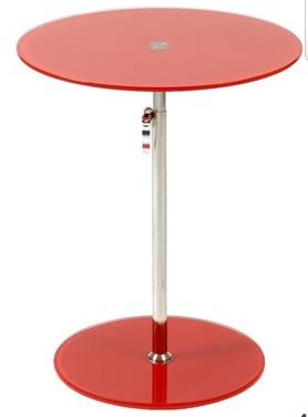 Radinka Rnd Glass Table Red